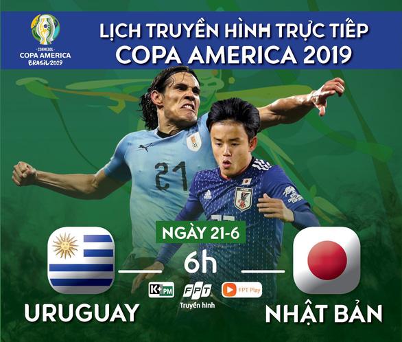 Lịch trực tiếp Copa America 2019: Uruguay đụng độ Nhật - Ảnh 1.