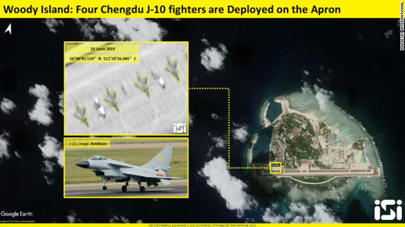 Trung Quốc cố tình phô trương 4 tiêm kích J-10 ở Hoàng Sa - Ảnh 2.