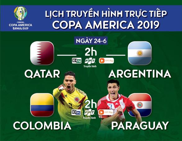 Lịch truyền hình Copa America 2019: Argentina quyết sống còn cùng Qatar - Ảnh 1.