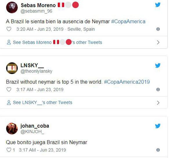 Đại thắng Peru, CĐV Brazil chọc quê Neymar trên mạng xã hội - Ảnh 2.