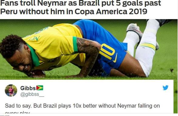 Đại thắng Peru, CĐV Brazil chọc quê Neymar trên mạng xã hội - Ảnh 1.