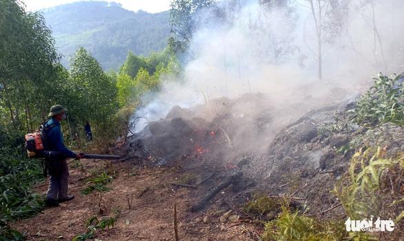 Hơn 900 người chữa cháy rừng ở Nghệ An trong đêm - Ảnh 3.