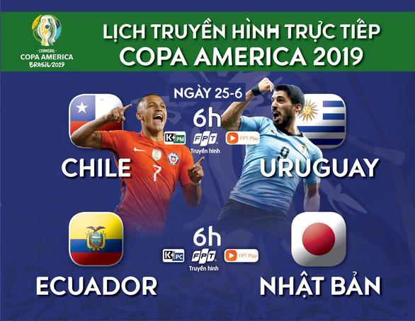 Lịch trực tiếp Copa America 2019: Đại chiến Chile và Uruguay - Ảnh 1.