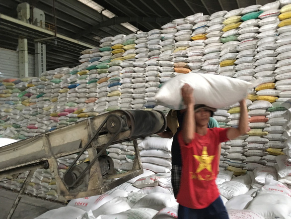 Xuất khẩu gạo giảm mạnh tạo áp lực lên tiêu thụ lúa hè thu - Ảnh 1.
