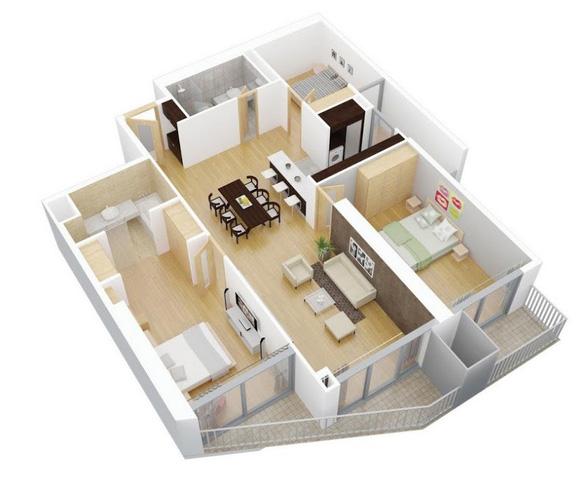 Tư vấn hoàn thiện nội thất căn hộ 3 phòng ngủ với kinh phí 200 triệu đồng - Ảnh 1.