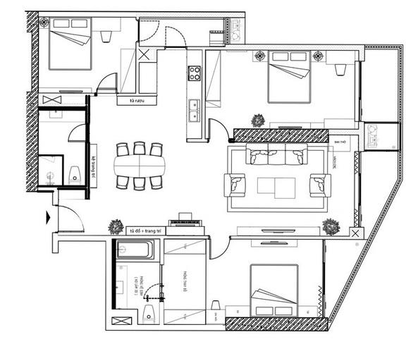 Tư vấn hoàn thiện nội thất căn hộ 3 phòng ngủ với kinh phí 200 triệu đồng - Ảnh 2.