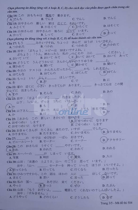 Mời bạn đọc xem đề tiếng Anh, tiếng Nhật THPT quốc gia 2019 - Ảnh 9.