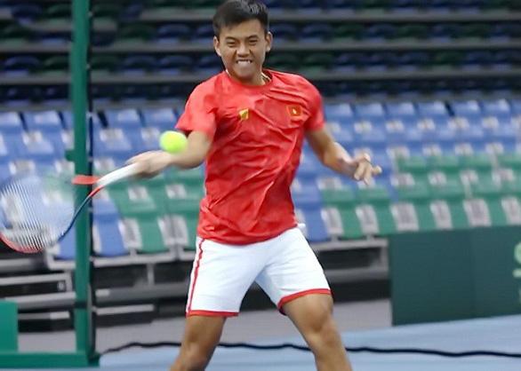 Hoàng Nam lội ngược dòng, VN thắng trận đầu Davis Cup 2019 - Ảnh 1.
