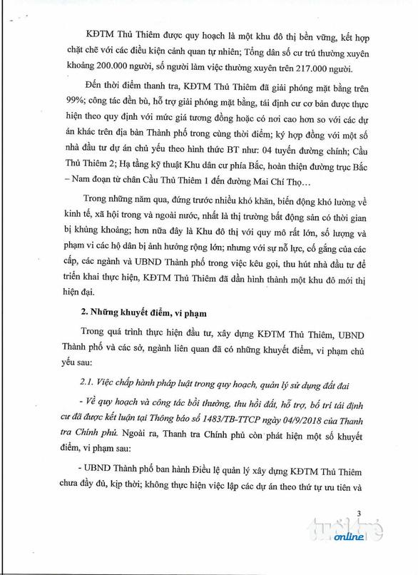Thanh tra Chính phủ công bố kết luận thanh tra Thủ Thiêm - Ảnh 4.