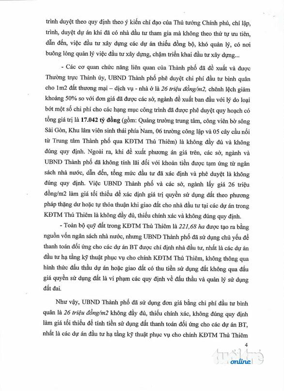 Thanh tra Chính phủ công bố kết luận thanh tra Thủ Thiêm - Ảnh 5.