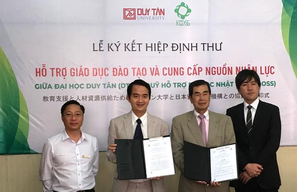 Đại học Duy Tân ký hiệp định thư với quỹ hỗ trợ du học Nhật - Ảnh 1.