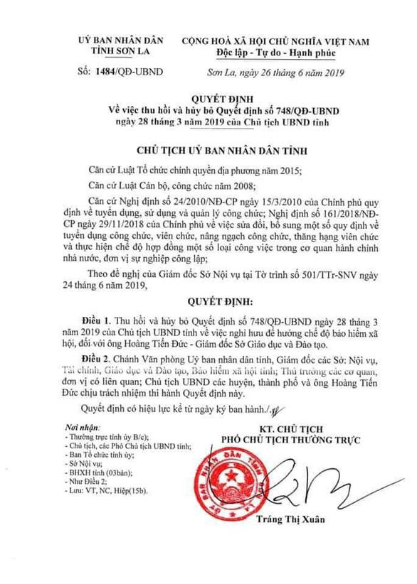 Giám đốc Sở GD-ĐT Sơn La hết đường nghỉ hưu, chờ bãi nhiệm - Ảnh 2.