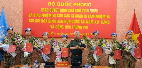 Thêm 7 sĩ quan Việt Nam đi làm nhiệm vụ gìn giữ hòa bình Liên Hiệp Quốc - Ảnh 1.
