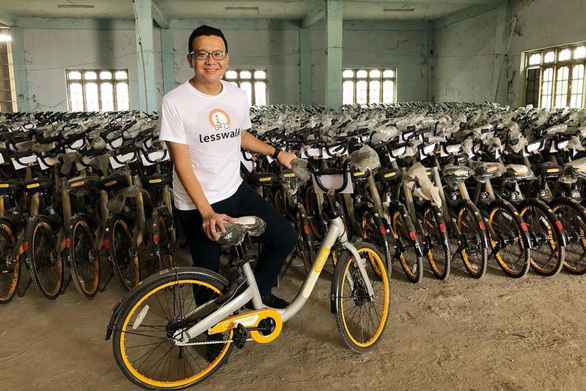 Tái chế hơn 10.000 chiếc xe đạp tặng học sinh nghèo - Ảnh 1.