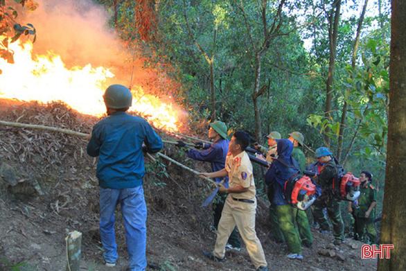 Rừng thông lại chìm trong lửa, Hà Tĩnh cấp tập di dời dân, bảo vệ trạm xăng - Ảnh 5.