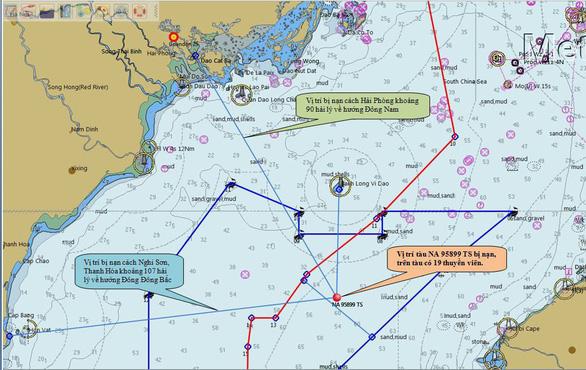 Va chạm tàu hàng, tàu cá cùng 19 ngư dân chìm giữa biển - Ảnh 1.
