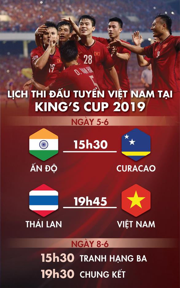 Lịch thi đấu của tuyển Việt Nam tại Kings Cup 2019 - Ảnh 1.