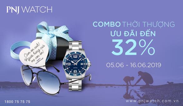 Ưu đãi đến 32% khi mua đồng hồ nhân Ngày của cha tại PNJ WATCH - Ảnh 1.