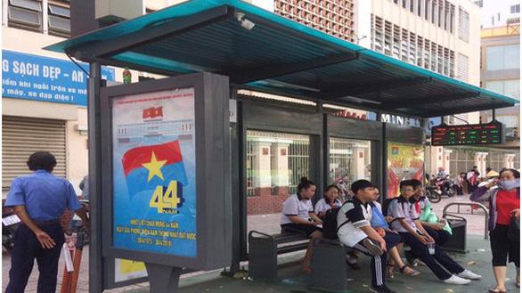 Nhà chờ xe buýt hiện đại bậc nhất TP.HCM sử dụng điện mặt trời - Ảnh 1.