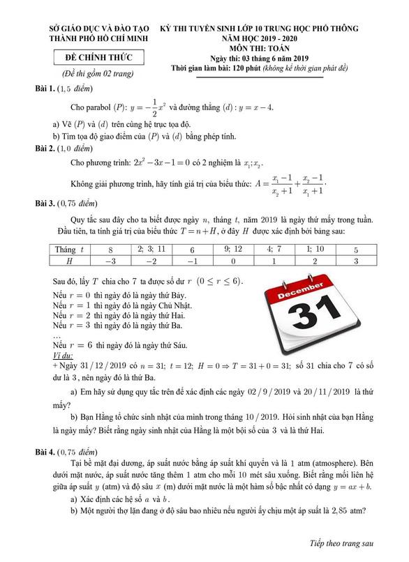 TP.HCM công bố đáp án các môn thi tuyển sinh lớp 10 - Ảnh 4.