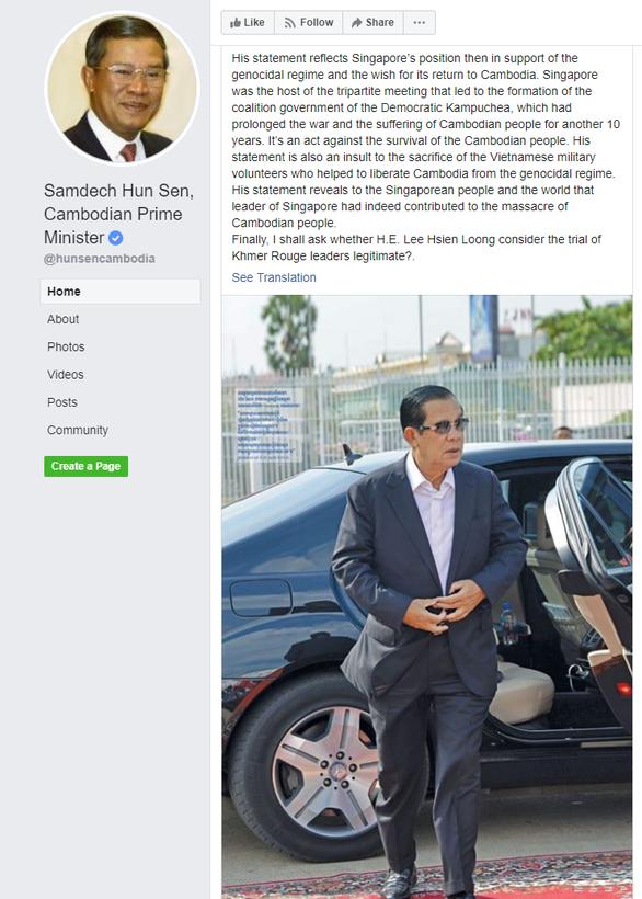 Thủ tướng Hun Sen: Ông Lý Hiển Long có xem ph.iên t.òa xử Khmer Đỏ là hợp pháp? - Ảnh 2.