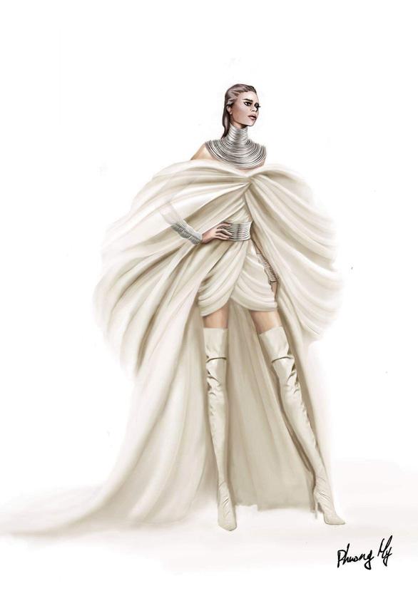 Nữ danh ca 22 giải Grammy lộng lẫy trang phục của nhà thiết kế Phương My - Ảnh 2.