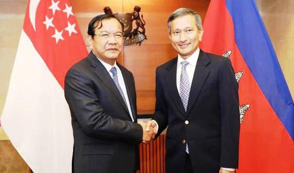 Ngoại trưởng Campuchia và Singapore điện đàm, thống nhất gác lại quá khứ - Ảnh 1.