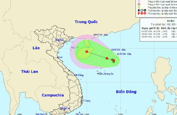 Vùng áp thấp mạnh lên, khả năng ảnh hưởng trực tiếp miền Bắc, miền Trung - Ảnh 1.