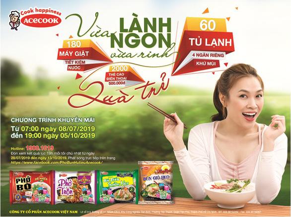 Rinh ngàn giải thưởng khủng với sản phẩm gạo ăn liền Acecook Việt Nam - Ảnh 2.