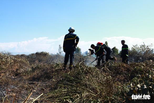 Cháy rừng thiêu rụi 10ha cây cối và 2 xe máy trên bán đảo Sơn Trà - Ảnh 3.