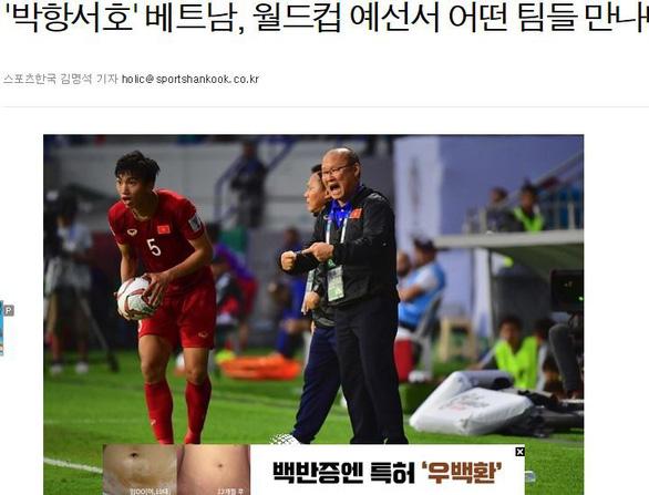 Báo Hàn: Thầy trò HLV Park Hang Seo rơi vào bảng đấu rất khó khăn - Ảnh 1.
