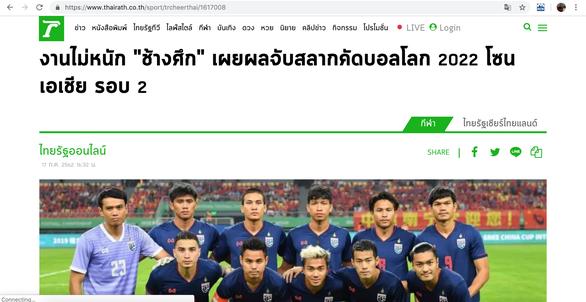 Báo Thái: Bảng đấu có Việt Nam là 'nhiệm vụ không quá khó' - Ảnh 1.