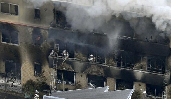 Cháy xưởng hoạt hình Nhật nghi do phóng hỏa, ít nhất 13 người chết - Ảnh 1.