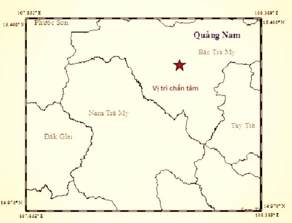 Động đất 3,8 độ Richter ở Quảng Nam - Ảnh 1.