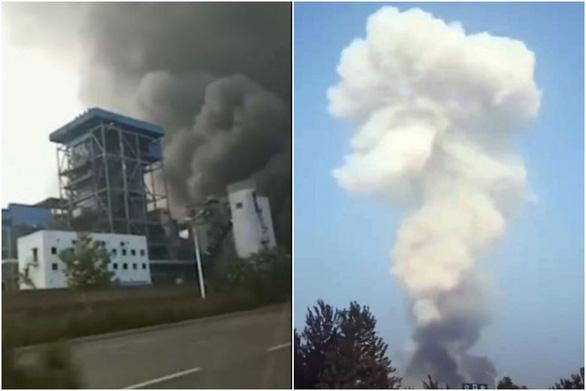 Nhà máy khí đốt Trung Quốc nổ tung, nhiều người thương vong và mất tích - Ảnh 1.