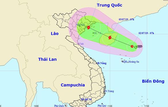 Áp thấp hướng vào Quảng Ninh - Hải Phòng, có thể mạnh thành bão - Ảnh 1.