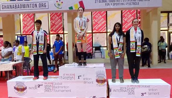 Vũ Thị Trang vô địch Giải cầu lông quốc tế tại Ghana - Ảnh 1.
