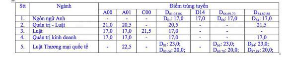 Trường ĐH Luật TP.HCM công bố 2.537 thí sinh trúng tuyển - Ảnh 2.