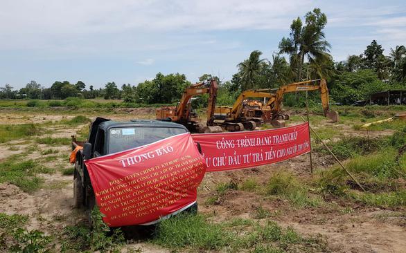 Dự án cao tốc Trung Lương - Mỹ Thuận: Ngưng thi công vì thiếu vốn - Ảnh 1.