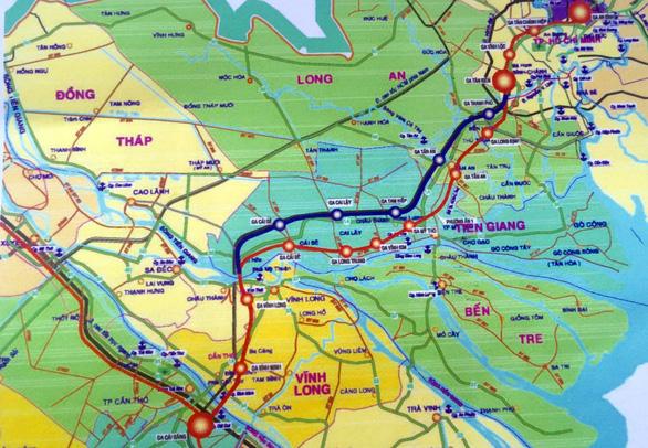 10 tỉ USD làm đường sắt cao tốc từ Bình Dương tới Cần Thơ - Ảnh 1.