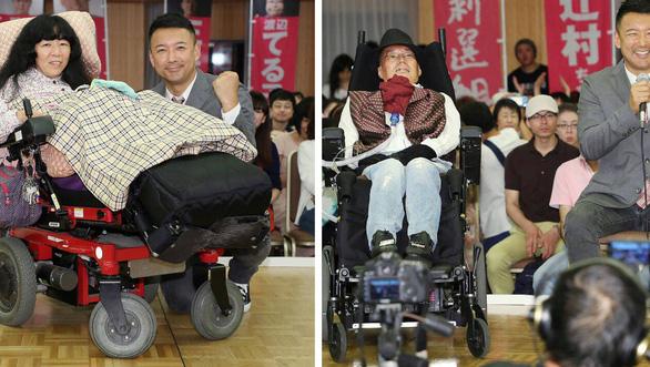 Ngồi xe lăn vào Thượng viện Nhật Bản - Ảnh 1.