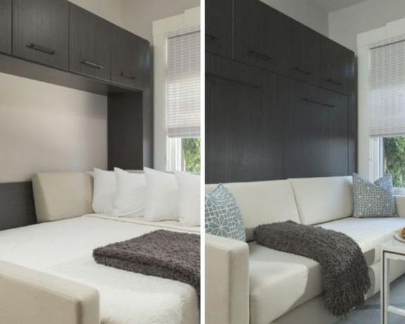 Giường ngủ thông minh thoắt ẩn, thoắt hiện cho nhà chật - Ảnh 3.