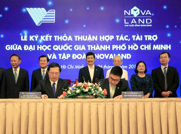 Novaland tài trợ Quỹ  Phát triển Đại học Quốc Gia TP.HCM - Ảnh 1.