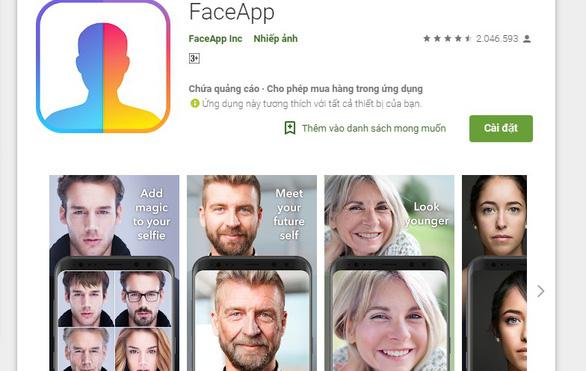 Phát hiện ứng dụng FaceApp giả mạo - Ảnh 1.