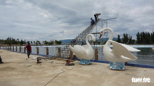 Tạm dừng lắp ráp nấc thang thiên đường ở Bình Định - Ảnh 5.