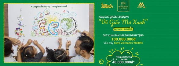 Cuộc thi vẽ Giấc mơ xanh lan tỏa thông điệp bảo vệ môi trường - Ảnh 1.
