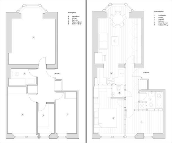 Căn hộ 2 phòng ngủ lột xác hoàn toàn sau cải tạo - Ảnh 9.