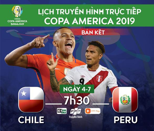 Lịch trực tiếp bán kết Copa America 2019: Chile hẹn Brazil ở chung kết - Ảnh 1.