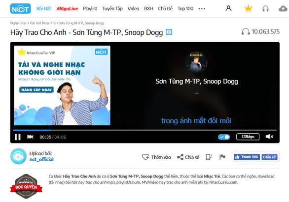 Hãy trao cho anh của Sơn Tùng M-TP lập kỷ lục 10 triệu lượt nghe trên NhacCuaTui - Ảnh 2.