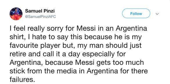 CĐV kêu gọi Messi 'bỏ' Argentina vì có đồng đội kém - Ảnh 2.
